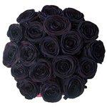 Чёрные розы в шляпной коробке в Санкт-Петербурге