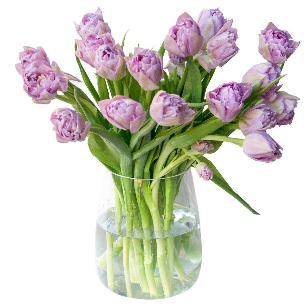 Букет с тюльпанами сиреневыми пионовидными в Санкт-Петербурге