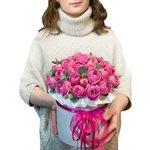 Розы Мисти Бабблз в шляпной коробке с доставкой в Санкт-Петербурге