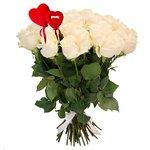 Букет из 31 белой розы на 14 февраля в Санкт-Петербурге