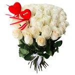 Букет из 45 белых роз на 14 февраля в Санкт-Петербурге