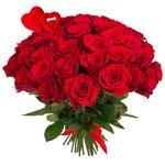 Букет из 55 красных роз на 14 февраля в Санкт-Петербурге