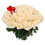 Букет из 65 белых роз на 14 февраля в Санкт-Петербурге