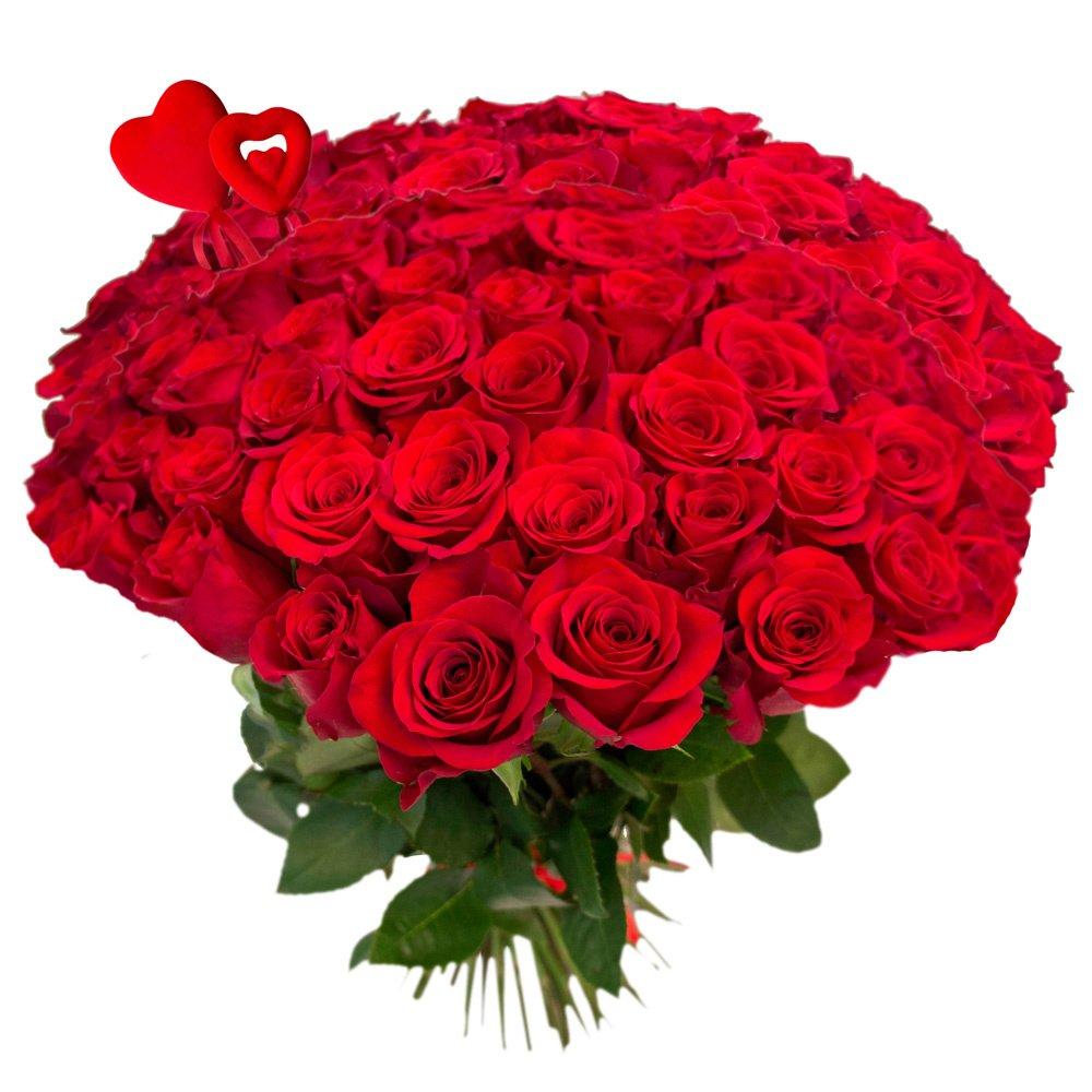 Букет из 101 красной розы на 14 февраля в Санкт-Петербурге
