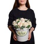 Пионовидная роза White O'Hara в шляпной коробке в Санкт-Петербурге