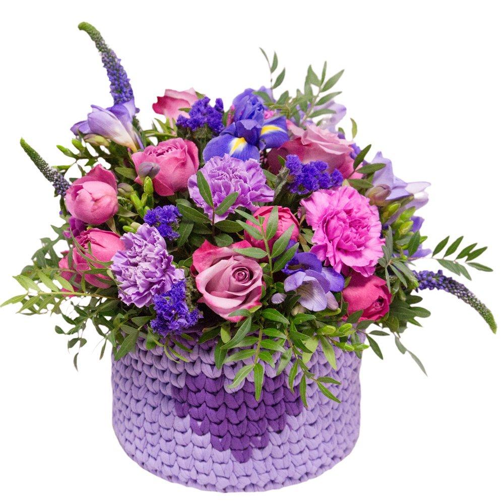 Заказать на дом корзину цветов спб, букет
