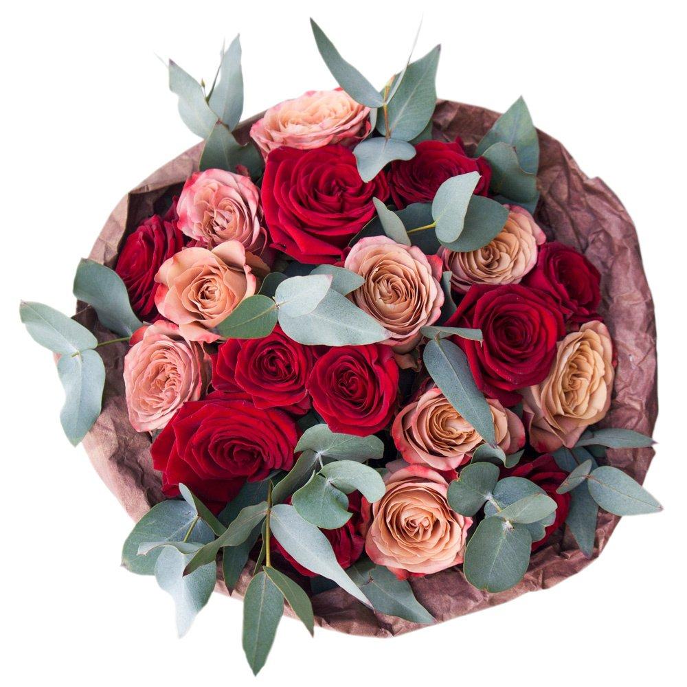 Мокко: розы Капучино и Рэд Наоми (красные)