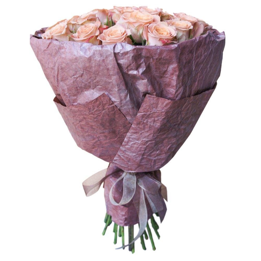 25 роз Капучино в упаковке