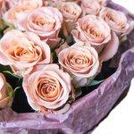 25 роз Капучино в дизайнерской упаковке в Санкт-Петербурге