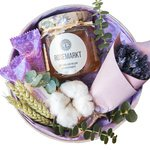 Подарочный набор с мёдом, хлопком и лавандой в Санкт-Петербурге