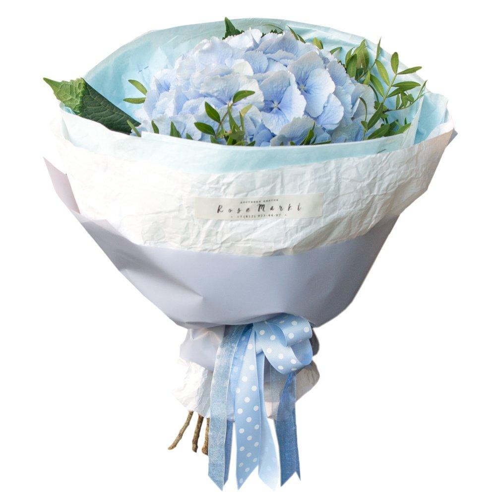 Голубая гортензия в упаковке