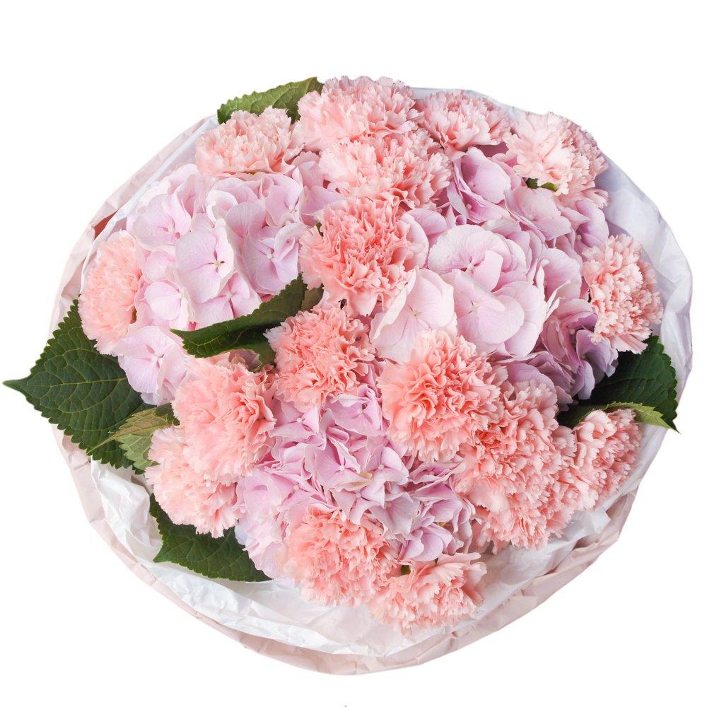 Дизайнерские букет из гвоздик и роз