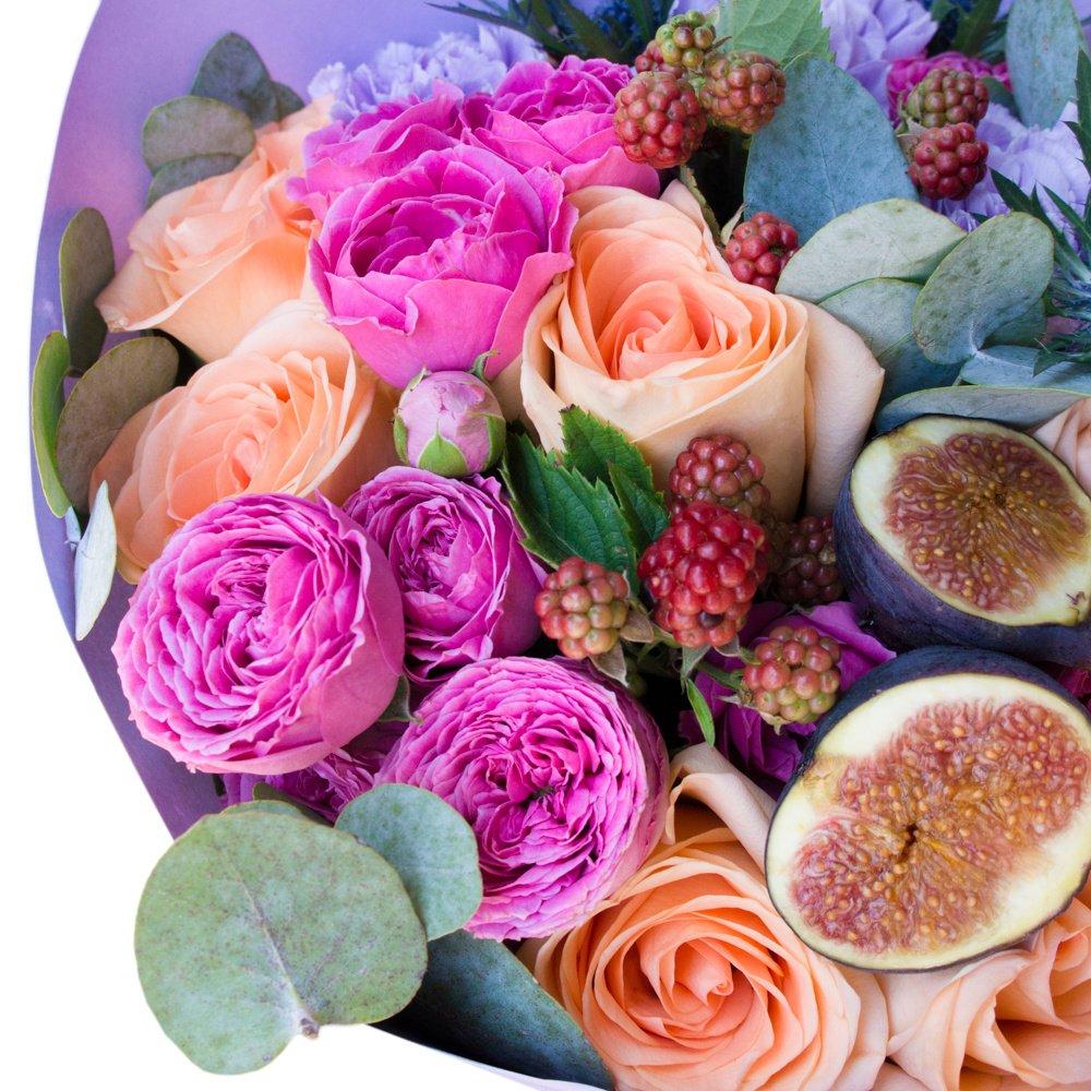 Цветочно-фруктовый букет
