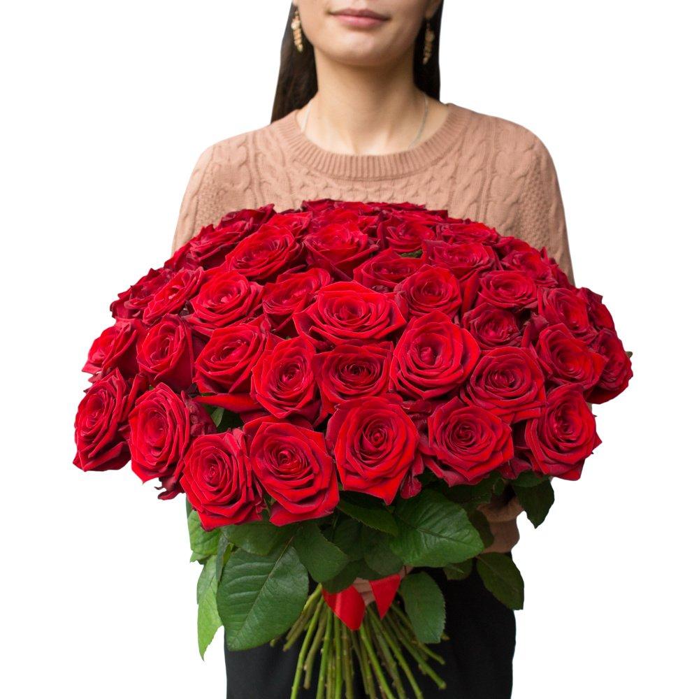 Букет из 51 алой розы в Санкт-Петербурге