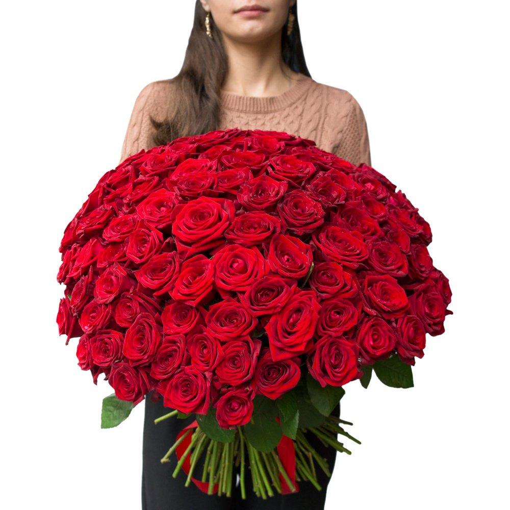 101 алая роза недорого в Санкт-Петербурге