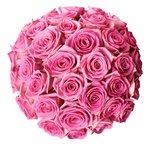 Цветы в шляпной коробке с розовыми розами в Санкт-Петербурге