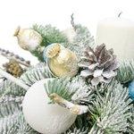 Новогодняя композиция в кашпо со свечой, гирляндой и снеговичком в Санкт-Петербурге