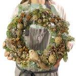 Купить лесной рождественский венок в Санкт-Петербурге
