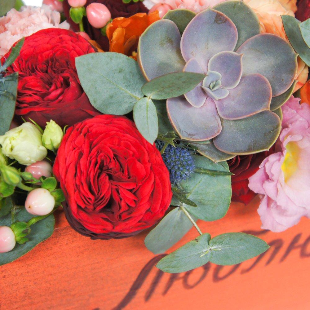 Ящик с цветами на вкус флориста