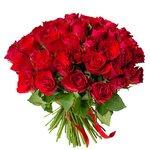 Букет из 75 красных Кенийских роз в Санкт-Петербурге