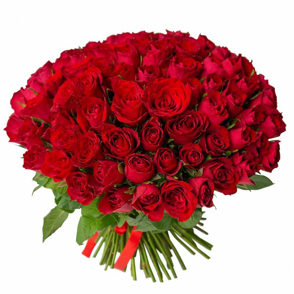 Букет из 101 красной Кенийской розы в Санкт-Петербурге