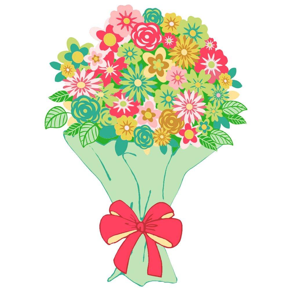 картинки с букетами цветов мультяшные рожки