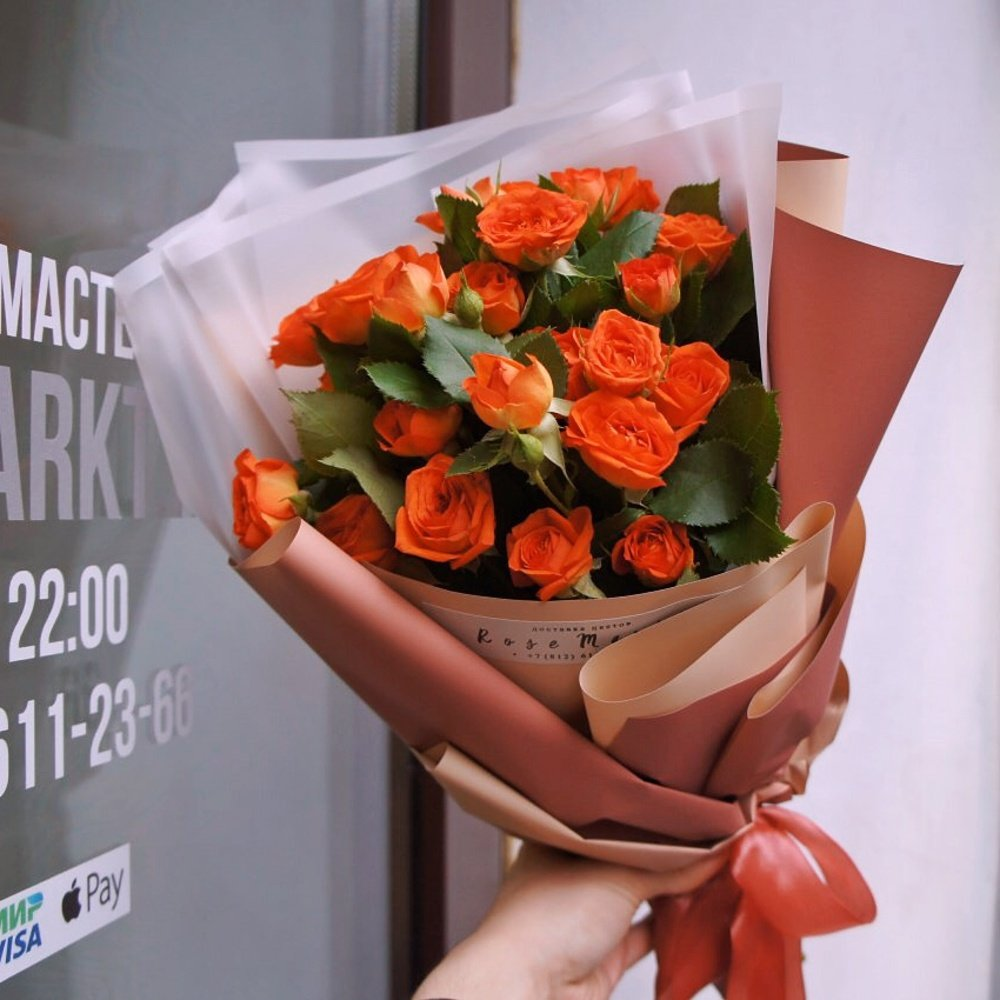 Розовые розы, доставить букет цветов по адресу