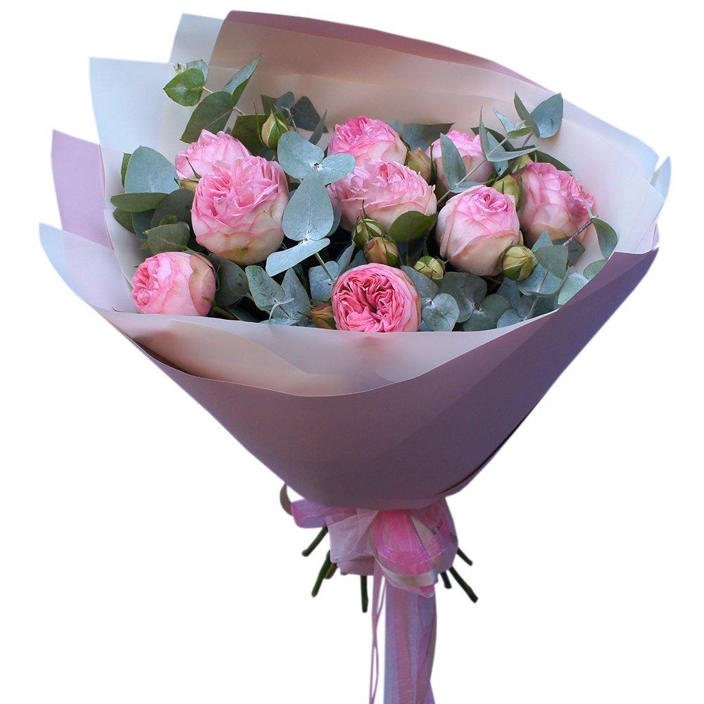 Букет пионовидная кустовая роза Брайдал Пиано в Санкт-Петербурге