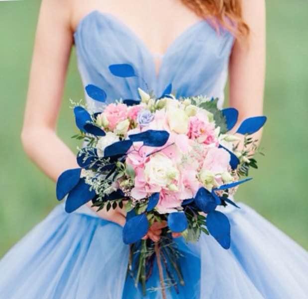 Цветы на розовую свадьбу 12