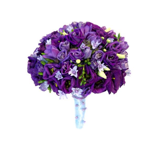 Свадебный букет из английских роз и орхидей фото 1